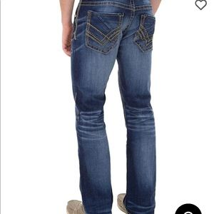 Buckle black three straight stretch jeans 28x30